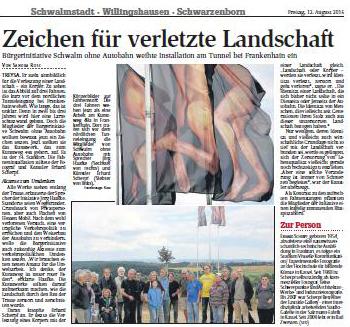 Zeitungsartikel HNA 12.8.2016
