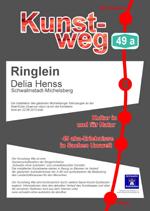 Schild an der Stiel-Eiche am Kunstwerk Ringlein